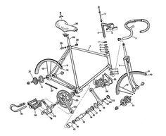 Fixed gear bike parts.