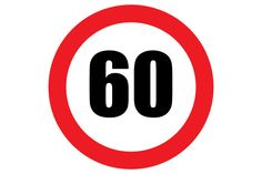 Printable Speed 60 Read Sign Free PDF for Speed Limit Signs Download