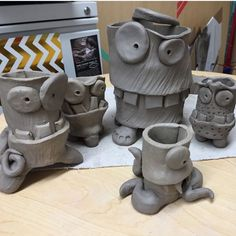 Using a slab technique, students will create clay monsters using cylinders.