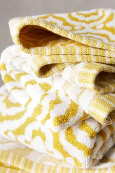 Slide View: 2: Yarn-Dyed Ruana Towel Collection