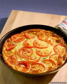Zucchini-Tomato Frittata (but it's on Martha Stewart's site which I always find tough to navigate...urgh)