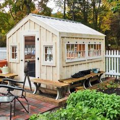 greenhouse shed plans wooden kits prefab combination building garden