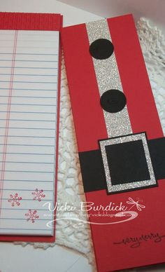 Santa Notepad - that is what I can do with those lined notepads..