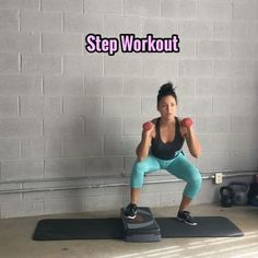 💥Step Workout💥 Using an aerobic step & a pair of dumbbells. I was using this as a quick kind of cardio workout, use heavier weights if… Step Aerobic Workout, Step Up Workout, Ultimate Ab Workout, Cardio Workout At Home, Aerobics Workout, Best Cardio, At Home Workouts, Aerobic Exercises, Cardio Workouts