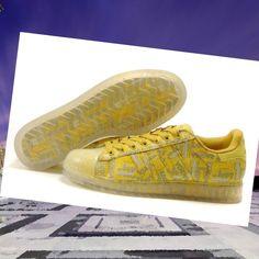 Chaussures de course adidas superstar clr brillent dans le noir jaune  {ENrNx}