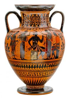 Amphore à figures noires, Assemblée des dieux, attribuée au groupe de Trois lignes, Athènes, 530- 520 av. J.-C.