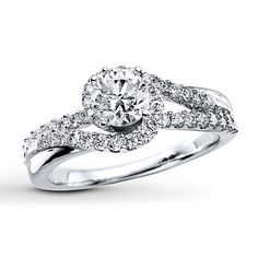 Diamond Engagement Ring 1 ct tw Round-cut 14K White Gold The ring my Fiance got me!! I LOVE it!!!! He did soo good!