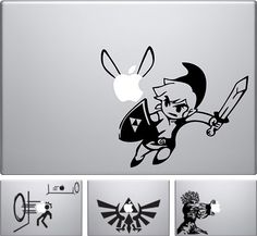 I take back what I said about if I ever get a MacBook doing the Snow White thing. So doing something Zelda-inspired...