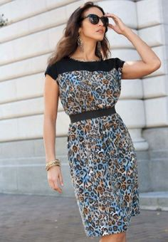 Amazon.com: Jessica London Plus Size Colorblock Print Dress: Clothing