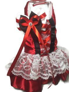Red Velvet Cupcake Dog Harness Dress by CoconutCoutureDiva on Etsy