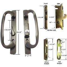 Sliding Glass Patio Door Handle Set With Internal Lock For