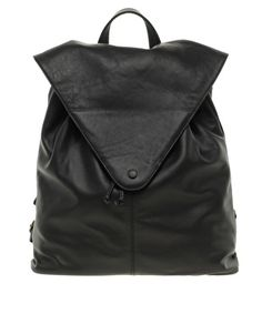 ASOS Leather Backpack with Pointed Flap $94.85