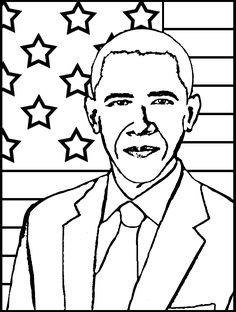 barack obama coloring page free patterns