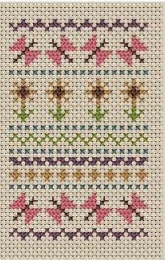 Children's Sampler - Butterfly Sampler cross stitch kit