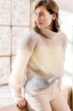 Lana Grossa SUPERLEICHTER ROLLKRAGENPULLI Silkhair Degradè - MOHAIR Booklet - Modell 7 | FILATI.cc WebShop