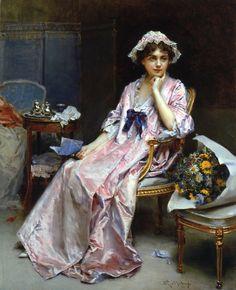 The Reluctant Mistress. Raimundo de Madrazo y Garreta (Spanish, Realism, 1841–1920). Oil on canvas.