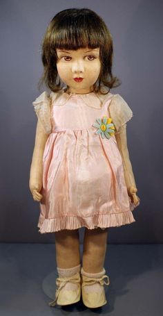Early French Cloth Doll By 'Raynal'