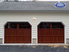 Infinity Classic Model I206S WG Dark Cherry PC Finish Garage Doors