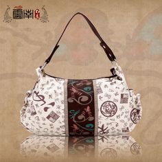 Chinese style women's printing canvas handbags