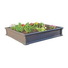 Lifetime 4 ft. x 4 ft. Raised Garden Bed-60065 - The Home Depot