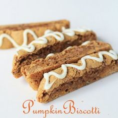 Pumpkin Pie Biscotti - I made this for Anthony tonight! Subbed whole wheat flour for white and white sugar instead of brown and doubled the spice. So good, and is nice and durable for a care package :)