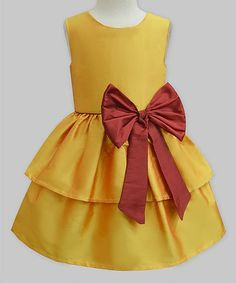 Love this Amber & Maroon Camilla Dress - Infant, Toddler & Girls on #zulily! #zulilyfinds
