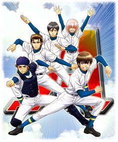 Ace of Diamond ~ Miyuki Kazuya, Chris Takigawa, Furuya Satoru, Haruichi Kominato, and Eijun Sawamura