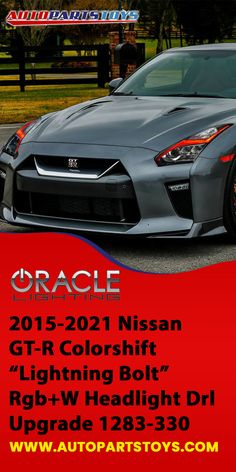 """These replacement boards feature our traditional RGB ColorSHIFT technology along with an extra """"white LED"""" which allows for truer white tones, a crisp white DRL color option, and the ability to instantly switch over for 100% legal road driving. Nissan GT-R colorshift, exotic cars, luxury cars, sport cars, concept cars, classic cars, supercars, Oracle lighting, Interior Auto Accessories, Car Parts & Accessories! #nissan #carheadlight #nissan #autoparts #oraclelighting #cars #luxurycars Car Parts And Accessories, Car Interior Accessories, Discount Auto Parts, Garage Bike, Jeep Parts, Tonneau Cover, Car Headlights, Nissan Gt, Train Car"""