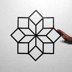 Hypnotizing Optical Illusion GIFs Made with Tape - My Modern Metropolis New York-based street artist Aakash Nihalani, who works primarily with tape in public spaces, has taken his creative landscape indoors with a new set of Masking Tape Wall, Tape Wall Art, Washi Tape Diy, Tape Painting, Creative Landscape, Geometric Art, Optical Illusions, Diy Wall, Creations