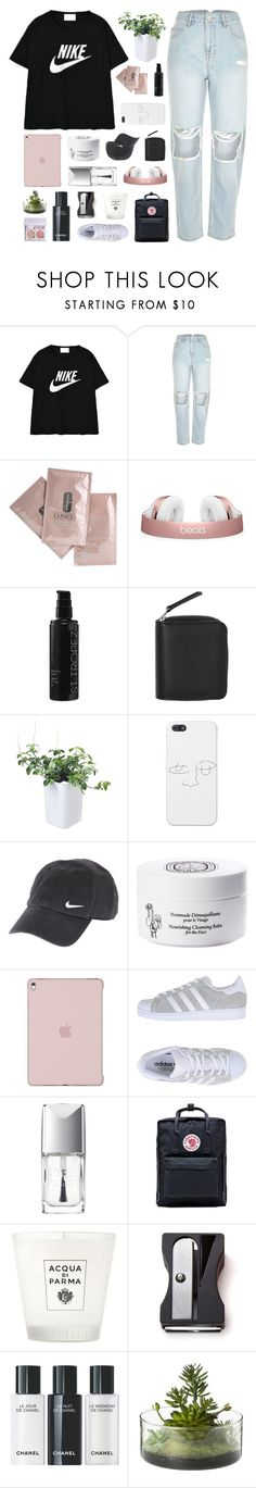 """""""Rome Wasn't Built In A Day"""" by justonegirlwithdreams ❤ liked on Polyvore featuring NIKE, River Island, Clinique, St. Tropez, Monki, Orthex, Diptyque, adidas Originals, Christian Dior and Fjällräven"""