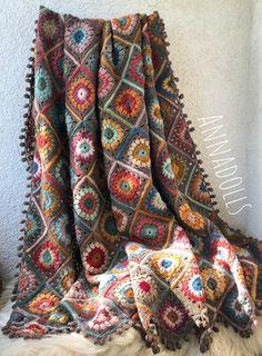 Handmade Crochet Throw. Crochet Afghan. Crochet Throw Blanket. Crochet Blanket. Reserved for Lilinebo. Crochet Blocks, Crochet Squares, Knit Or Crochet, Crochet Baby, Crochet Patterns, Easy Crochet Blanket, Crochet Blankets, Crochet Afghans, Crochet Cushions