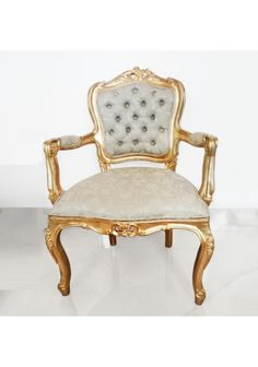 Cadeira dourada Luis XV