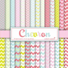 INSTANT DOWNLOAD 30 Chevron Digital Papers Pack. by CLIPARTGARDEN  https://www.etsy.com/listing/126083123/instant-download-30-chevron-digital?ref=shop_home_active_22