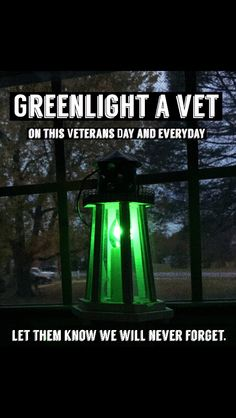 Green light a Vet this Veteran's Day and everyday. American Legion Auxiliary, Leading From The Front, Green Lights, Army Brat, Army Reserve, Army Infantry, Army Mom, Patriotic Crafts, Old Glory