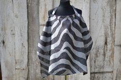 Zebra Linen nursing cover