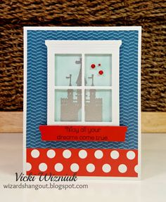 Magical Fairtytale Birthday card with CTMH Magical papers and Fairytale Birthday stamp set.  by Vicki Wizniuk