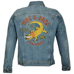 e589fcb4927 Blouson moto vintage Ride And Sons Everglades denim used