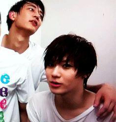 Min-ho and Taemin gif
