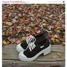 more photos 7a209 f5b8e On S A L E... Vintage 90s Sneakers Sporty Spice Chunky High Heel Sneakers  Tennis