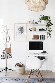 How to make your home office the best room in the house Bored of your desk? Here are four ideas for how to make your home office a bit more inspiring, based around four quite different themes. Cozy Home Office, Home Office Space, Home Office Design, Home Office Decor, House Design, Home Decor, Office Ideas, Small Office, Office Decorations