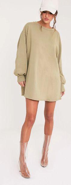 c81515f290e0 Sianna Sage Green Oversized Sweater Dress Size Uk 12 LS172 GG 10 #fashion  #clothing