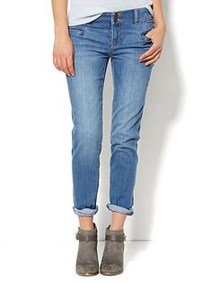 Shop Soho Jeans - New York Boyfriend - Blue Rebel Wash . Find your perfect size online at the best price at New York & Company.