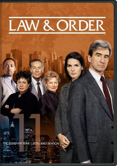 Sam Waterston & Angie Harmon - Law & Order: The Eleventh Year Chris Noth, George Dzundza, Detective, Jill Hennessy, Sam Waterston, Dianne Wiest, Nostalgia, Plus Tv, Anthony Anderson