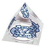 NCAA North Carolina University Tarheels logo in 2 Crystal Pyramid with Colored Windowed Gift Box