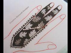 YouTube #unique #leaf #strip #henna #mehndi #design