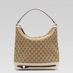 b06e59c02fb3 Gucci Mayfair Medium Hobo Bag Beige Ebony Gg Fabric Off-white Le