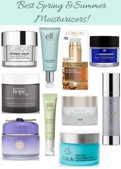 Best moisturizers for spring & summer!