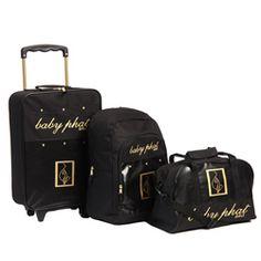 Baby Phat Pebble 3-piece Luggage Set