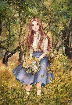 싱그러운 초록 가득한 숲에 바람이 스며들면  마음속에 묻어둔 이야기를 나도 모르게 꺼내 버릴 것만 같아.