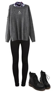 """Untitled #3"" by noratskaar on Polyvore featuring J Brand and Noisy May"